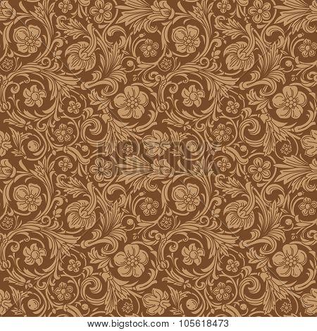 Vintage classic ornamental seamless vector pattern