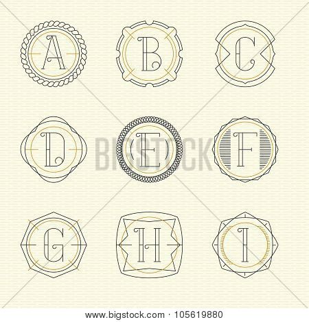 Vector set of monogram