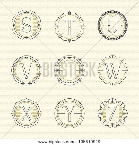Vector set of monogram