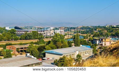 View Of Skopje With The Vardar River - Macedonia
