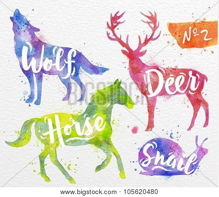 Painted animals deer