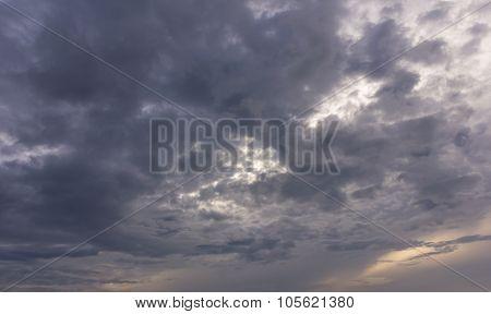 Dark Cloud And Sky