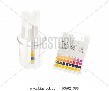 pH Paper And Tube Solution With pH Values