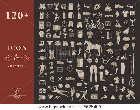 Big Set Of Sport Vector Icons