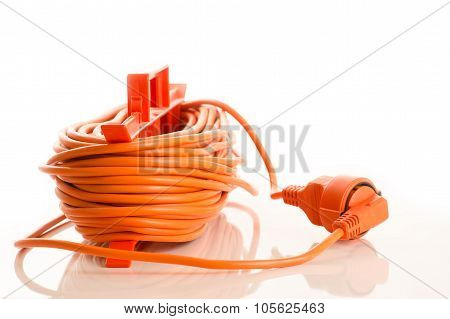 extension cord isolated on white background