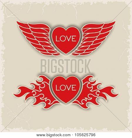 Heraldic volumetric hearts