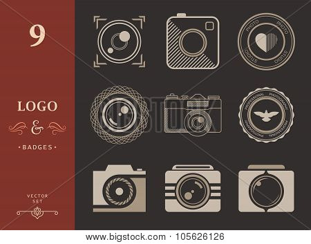 Set Of Vector Icons And Logo Photo