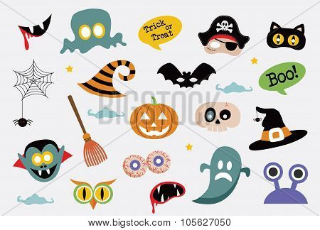 halloween colorful icons