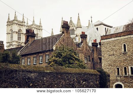 Majestic Westminster Abbey, London, Great Britain, Tourist Destination