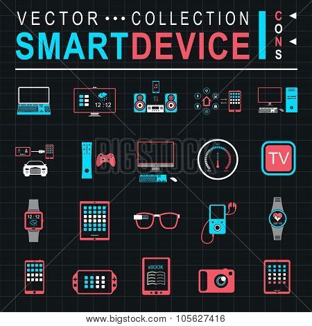 Vector Illustration Smart Devices