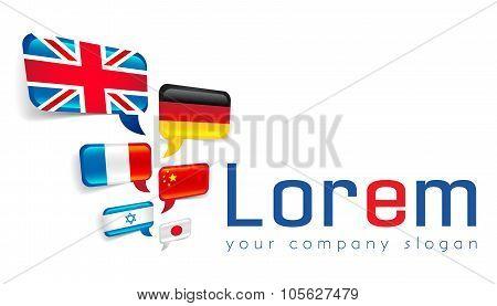 International globalization logo template