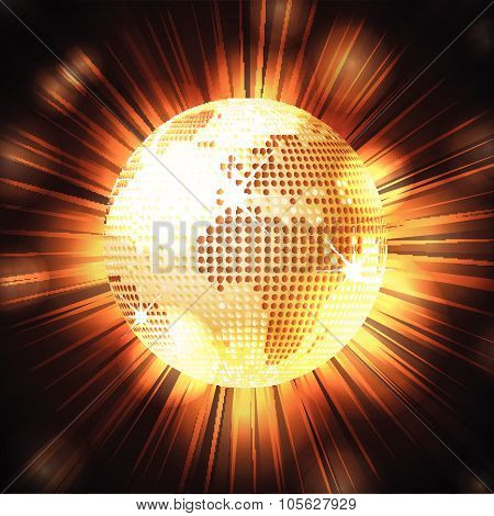Sparkling World Globe Light Explosion