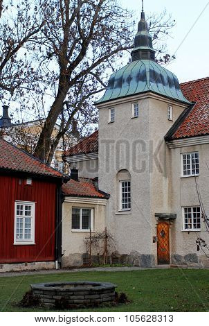 The House With Cupola In The Center Of Vasteras City In Sweden