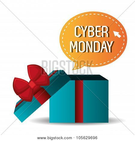 Cyber monday shopping season design.