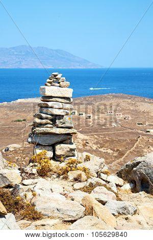 Antique  In Delos Greece