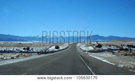 Scenic Desert Highway, Usa.