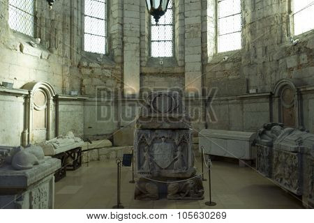 Sarcophagus Inside The Carmo Convent