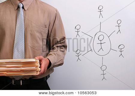 Man Holding Folders