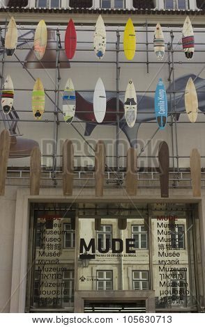 Museum of Fashion and design in Rua Augusta in Lisbon