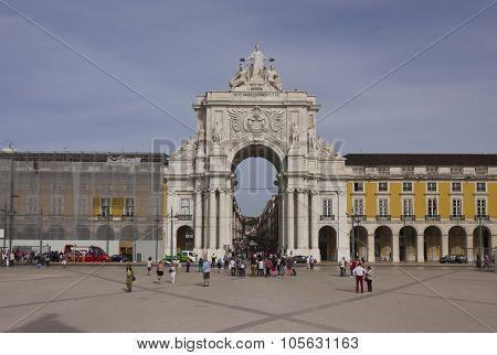 Placa Do Comercio In Lisbon