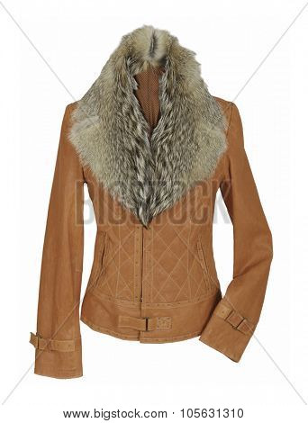 brown jacket isolated on white