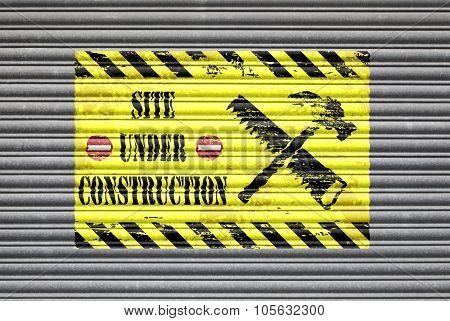 Site Under Construction Shutter
