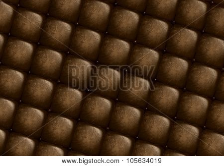 The brown texture of the old leather skin