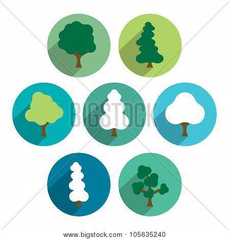 Tree Icon Set.