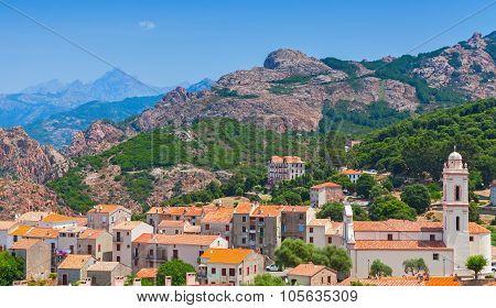 Corsican Village Landscape, Old Living Houses