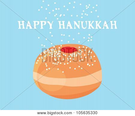 funny hanukkah card.  jewish holiday abstract illustration