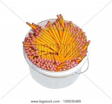 Pencils In A Plastic Box