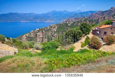 Rural Landscape Of Piana Region, South Corsica