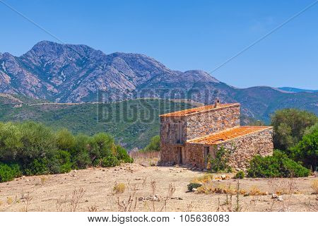 Old House In Piana Region, South Corsica, France