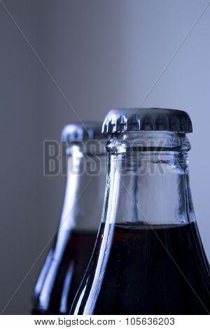Carbonated Soda Glass Cola Soft Drink Bottle