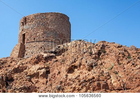 Ancient Genoese Tower On Capo Rosso, Piana