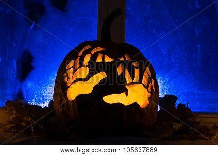 Photo For A Holiday Halloween, Pumpkin With Hands