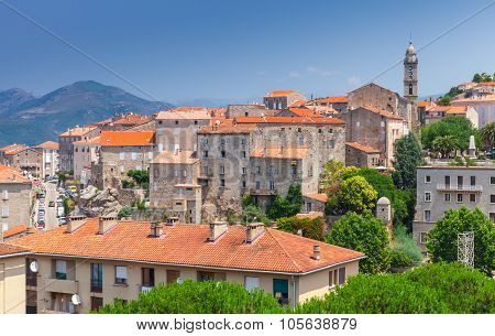 Ancient Town Sartene Of Corsica, France