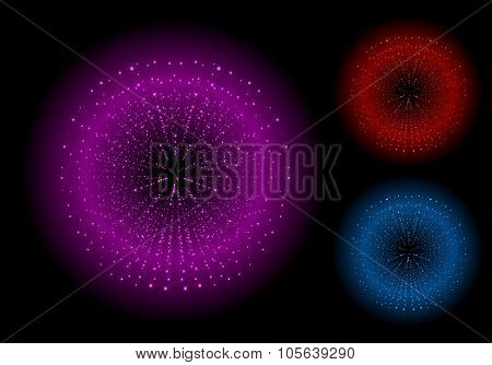 Space explosion. Pink red blue