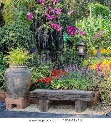 Decorated Flower Garden