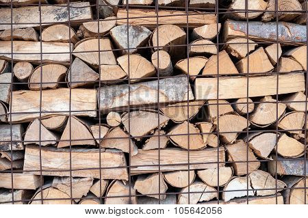 Stack Of Firewood For Fireplace Country Life Style