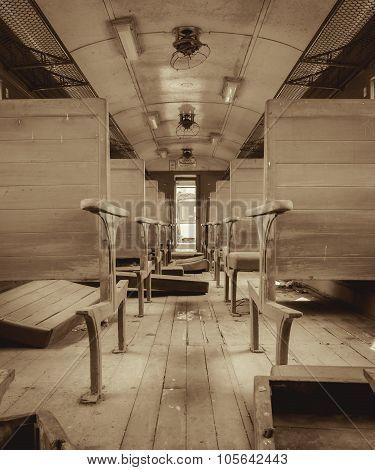 Interior Of A Passenger Train