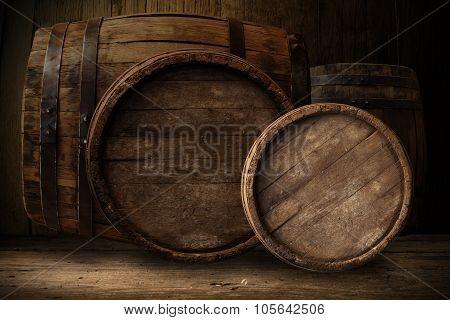 wooden barrel beer