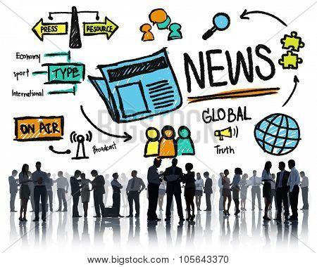 News Journalism Information Publication Update Media Advertisement Concept