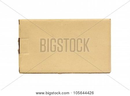 Brown Cardboard Box  On A White Background