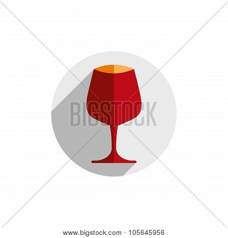 Winery Theme, Decorative Stylish Wine Goblet. Wine Tasting Conceptual Symbol, Graphic Design Element