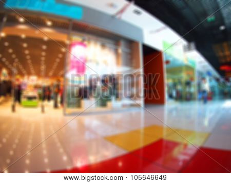 Abstract And Blurred Image Of The Shopping Center