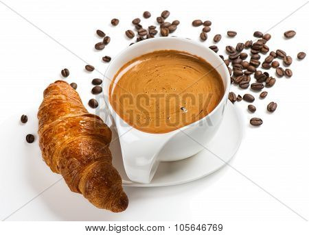 Coffee With A Croissan
