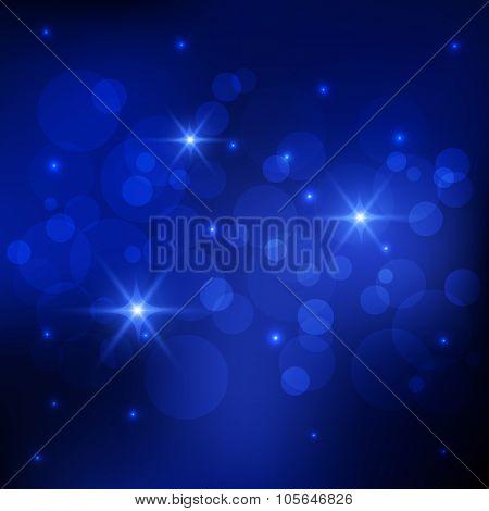 Bokeh deep blue background