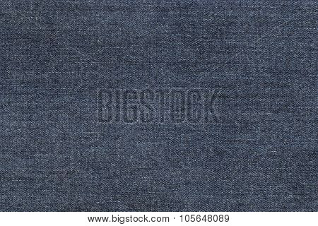 Closeup background photo of texture of midnight blue denim jeans textile
