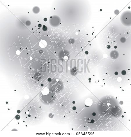 3d spatial lattice covering complicated op art background